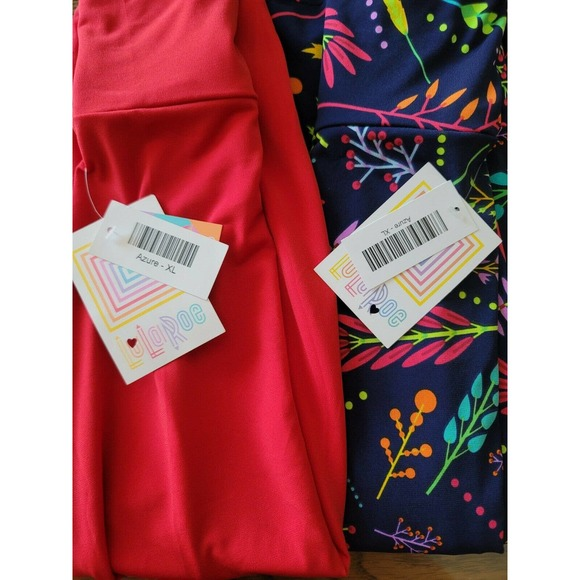 NWT Lularoe Azure Skirt XL Lot Of 2 Solid, Floral